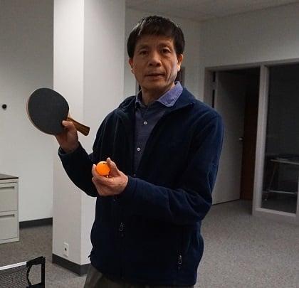 Ping pong madness champion Yong Lin