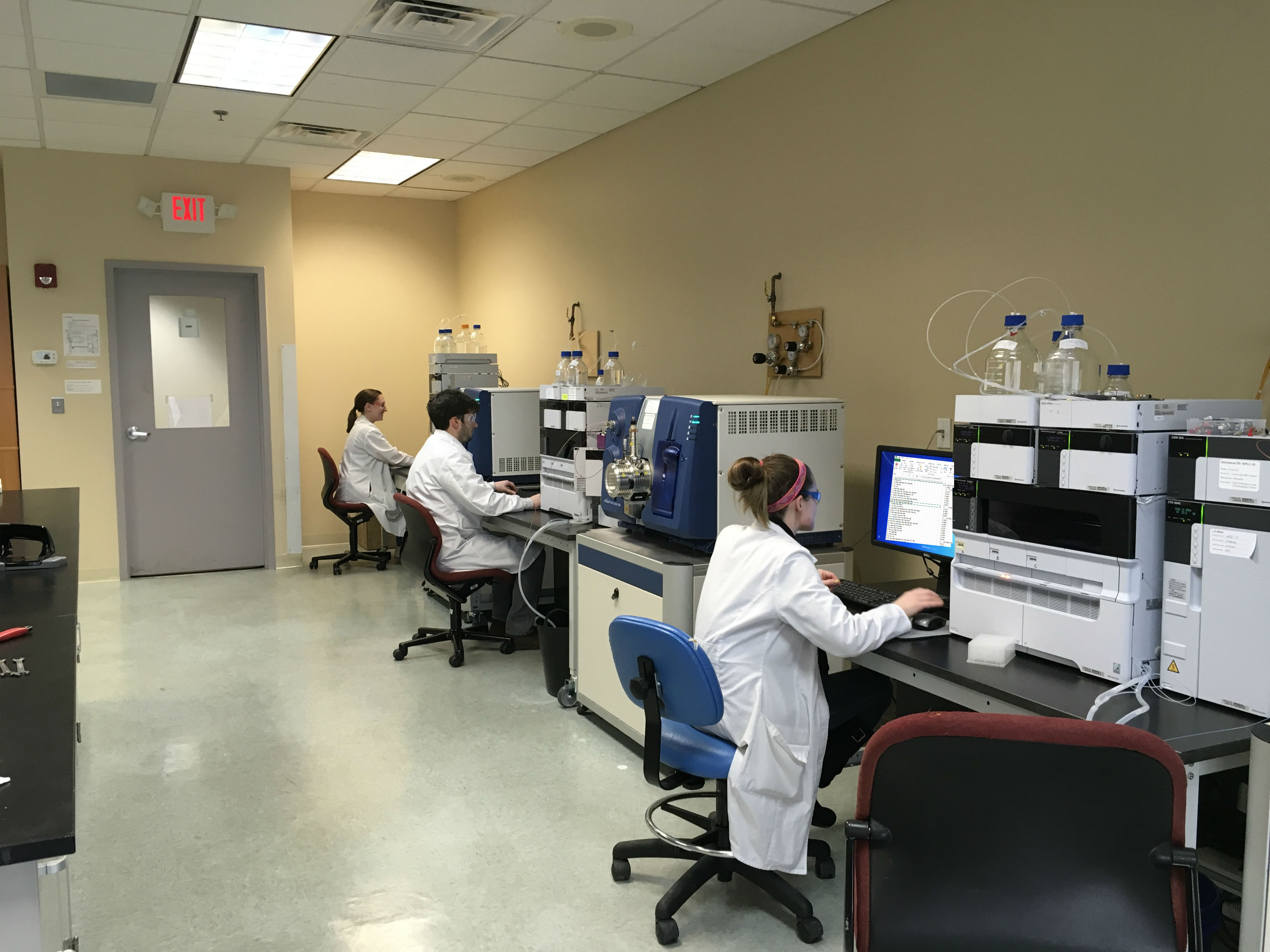 mass spectrometry scientists at work