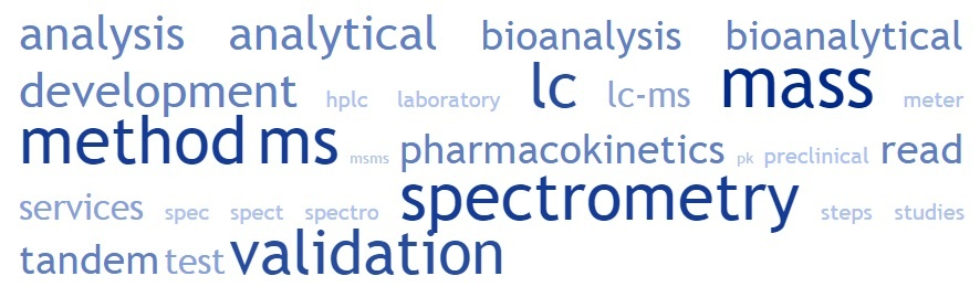 lc ms ms word cloud lc ms ms tandem mass spectrometry mass spectrometry analysis bioanalysis method validation what is mass spectrometry how to read mass spectrometry test method validation method development analytical method validation preclinical studies bioanalytical method validation hplc ms ms lc mass spec bioanalytical laboratory services mass spectrometry validation of an analytical method method validation steps analytical method development lc ms ms analysis mass spect mass spectrometry lc lc ms ms method development and validation mass spectro meter pk pharmacokinetics bioanalytical services what is lc-ms lc mass spectrometry mass spectrometry ms lc lc ms mass spectrometry lc-ms/ms lc-ms lc msms method development